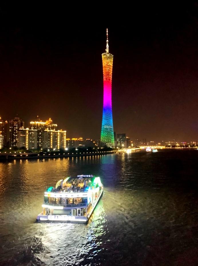Прогулки по реке Жемчужной реке , Гуанчжоу, Китай