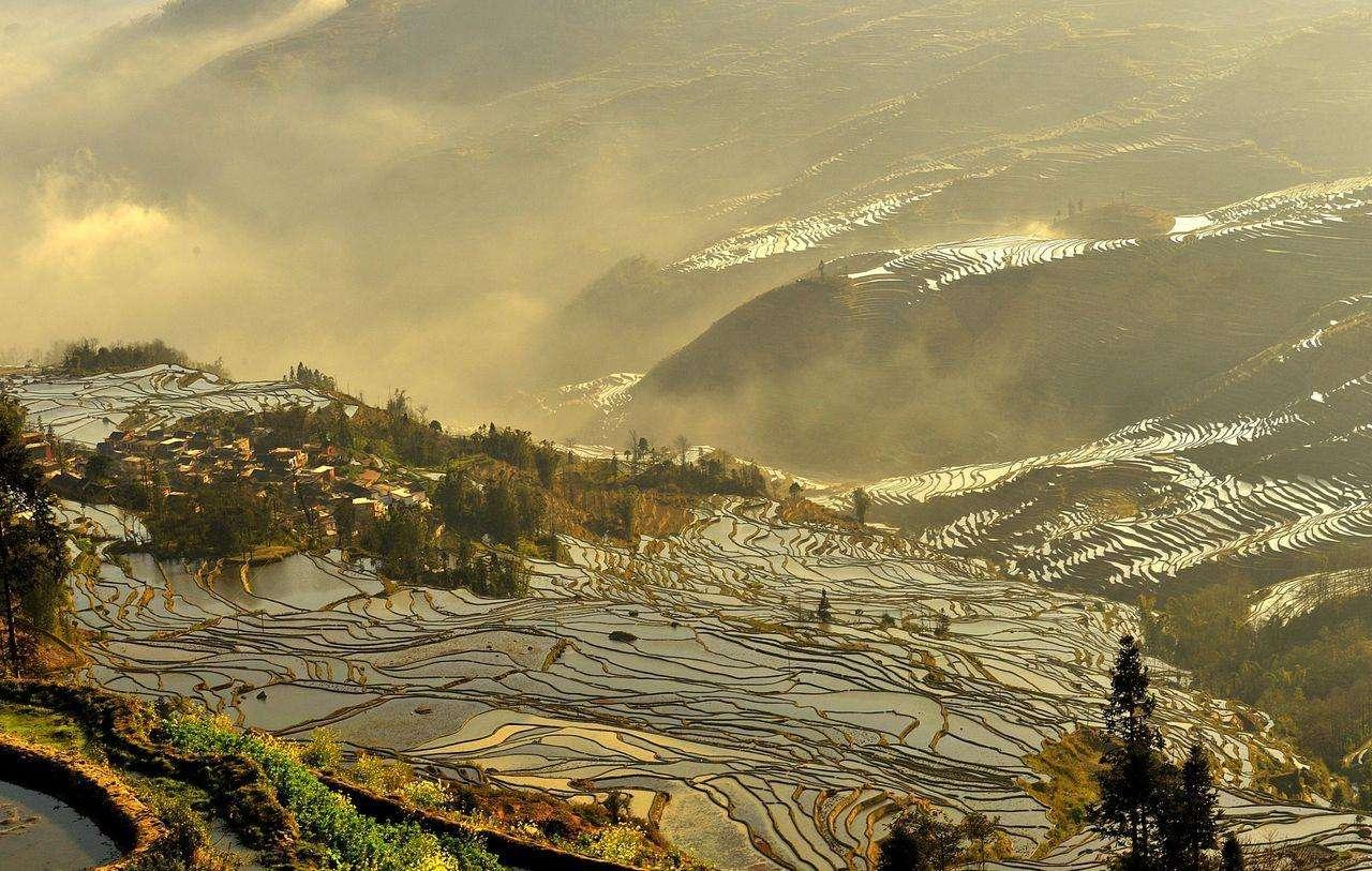 террасы ЮаньЯн, юньнань, Китай