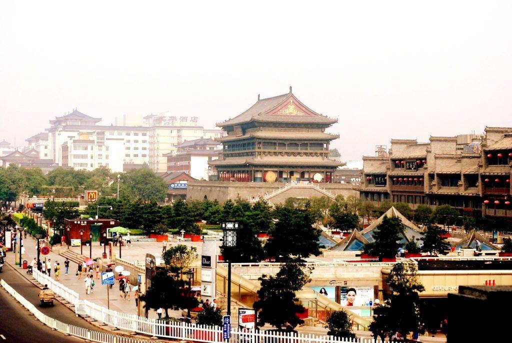 Архитектура Сиань, Китай