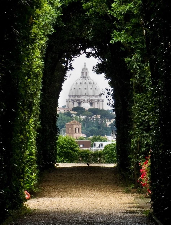 Авентин Хилл Замочная скважина в Риме, Италия