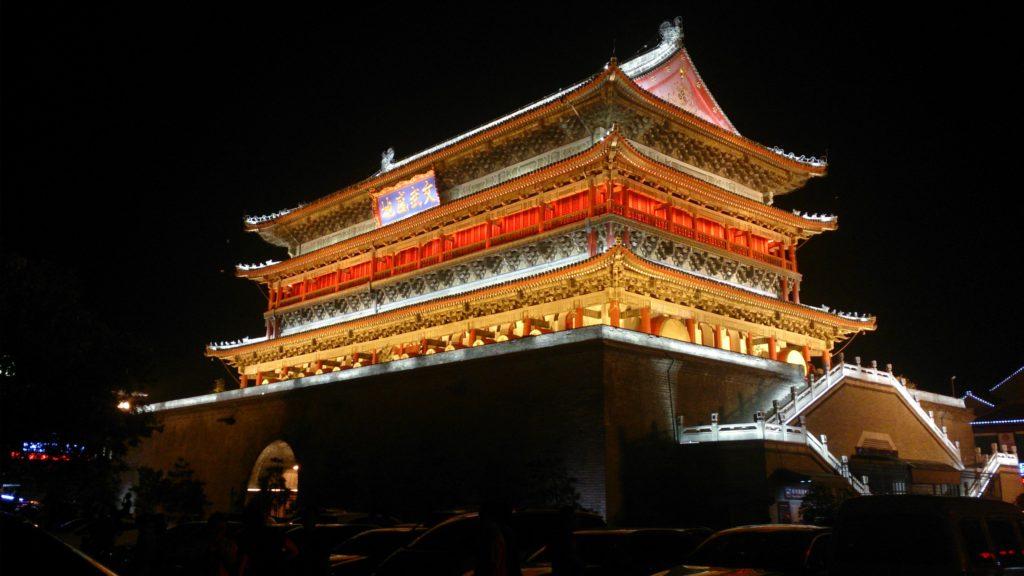 Барабанная башня Сианя, Китай