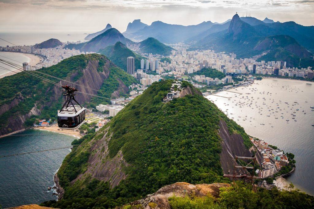 Гора Шугар Лоаф, вид на Рио де Жанейро