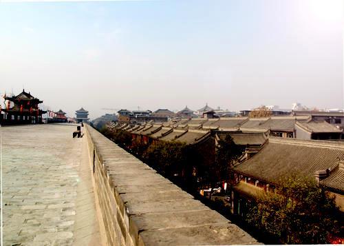 Городская стена, Сиань, Китай - днем