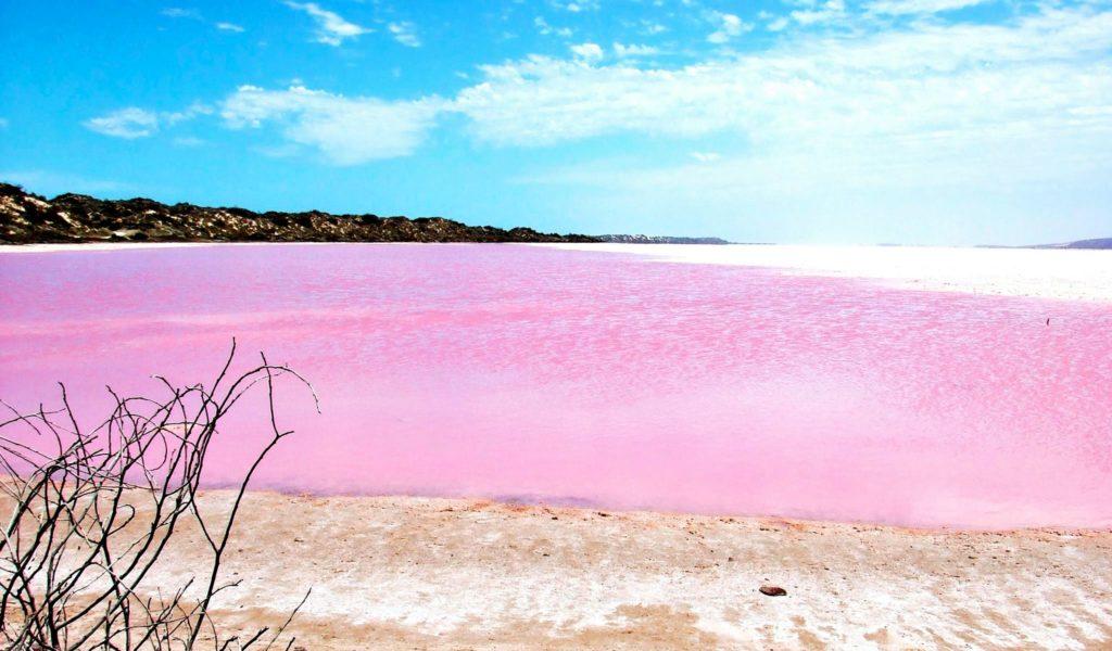 Хиллер Лэйк или Розовое Озеро, Австралия