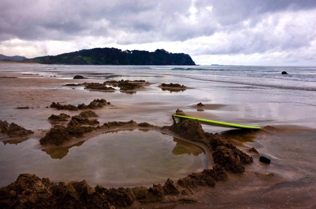 Хот уотер пляж, hot water beach, Новая Зеландия