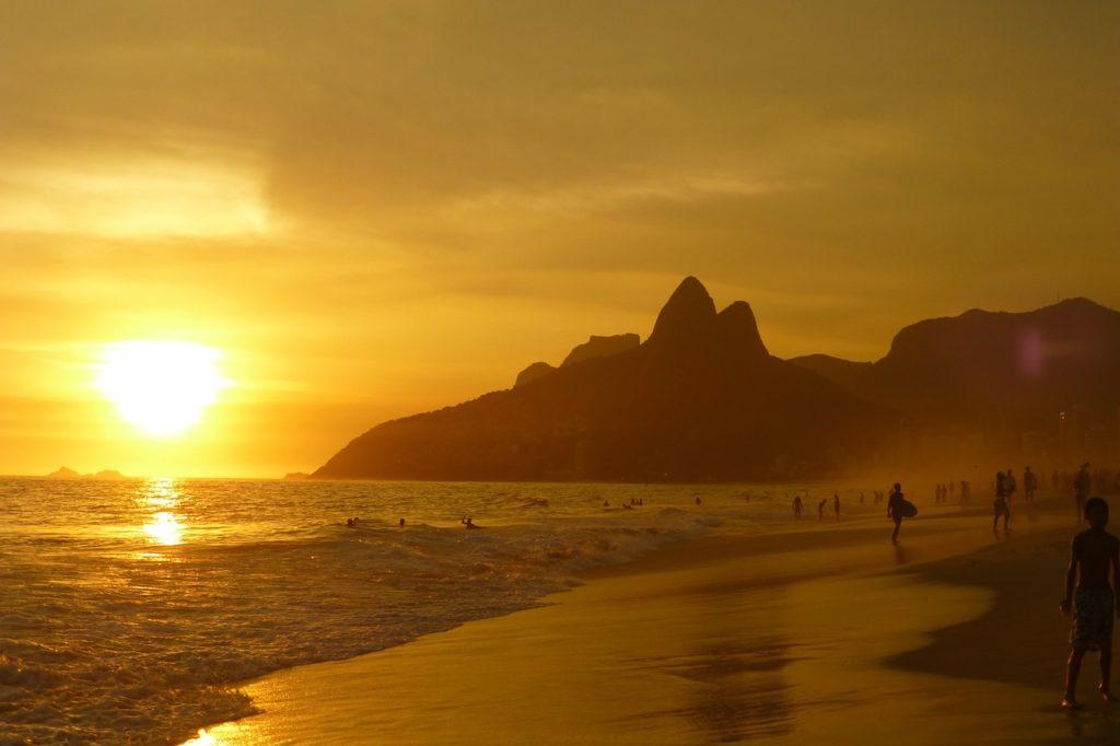 Ипанема пляж в Рио же Жанейро