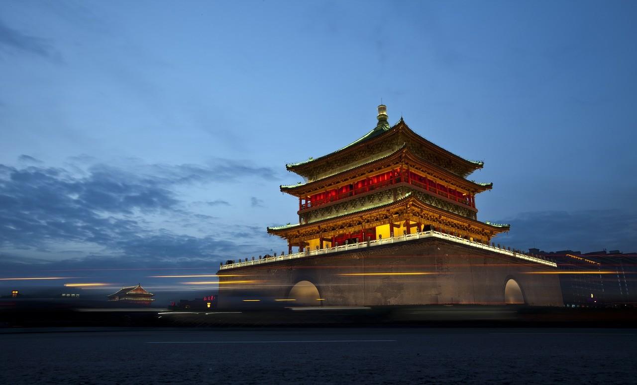 Колокольная башня Сиань, Китай