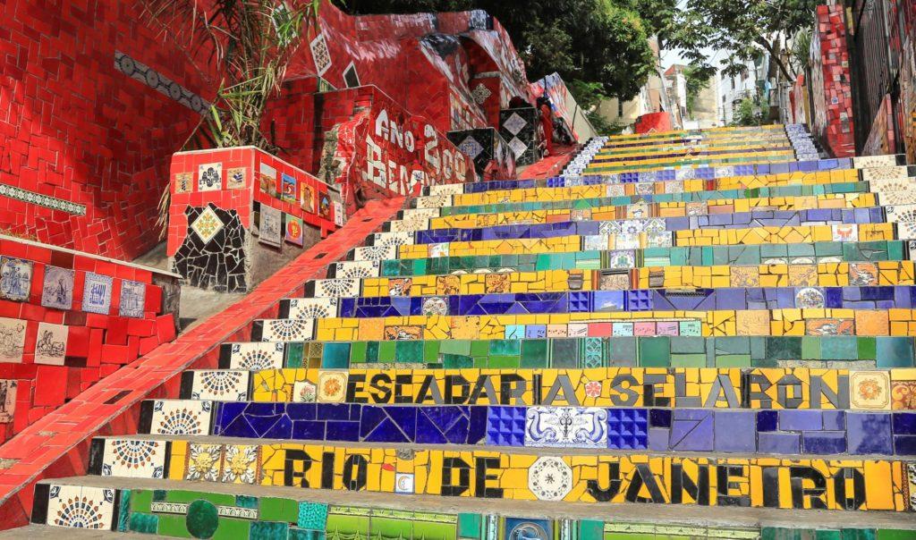 Лестница лапа, Рио да Жанейро, Бразилия