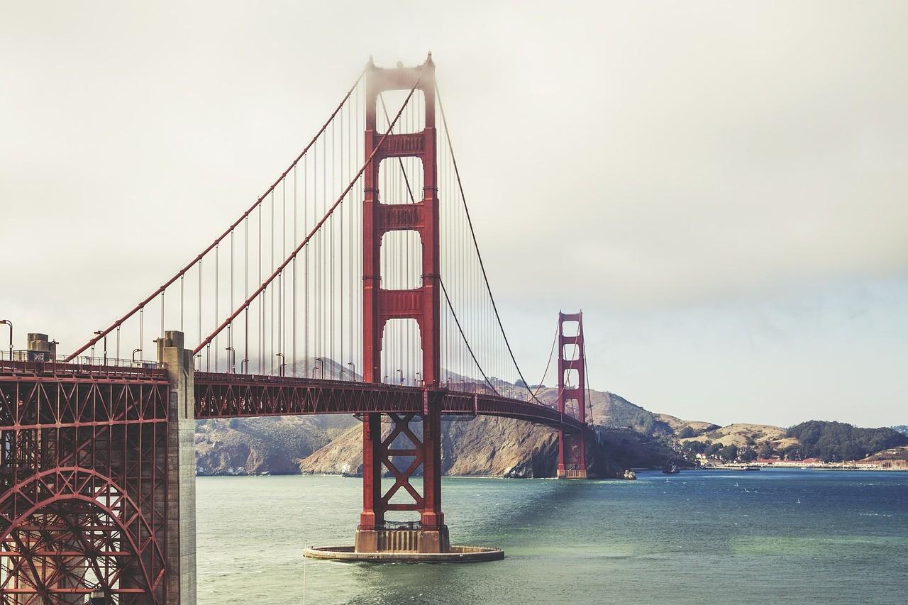 Мост Золотые Ворота в Сан франциско,США