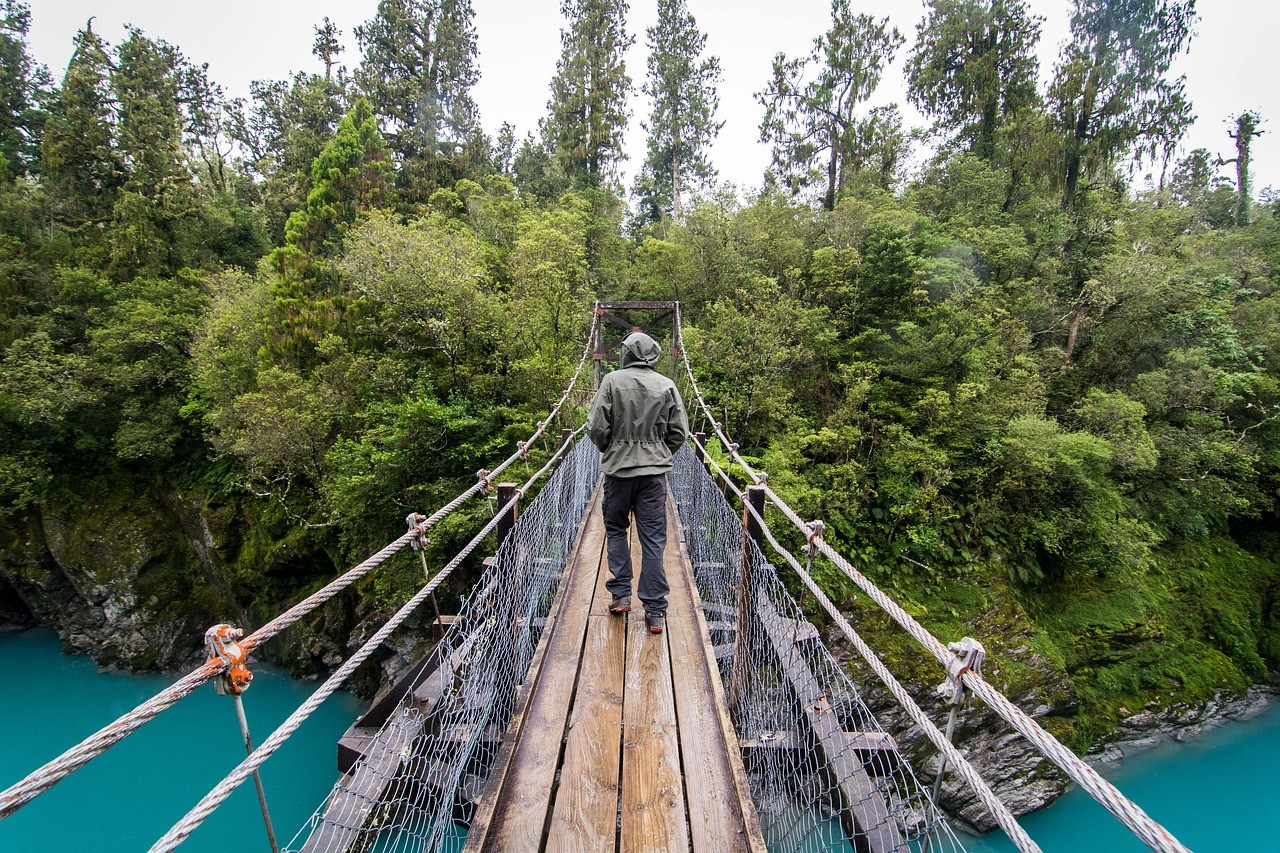 Новая Зеландия, подвесной мост