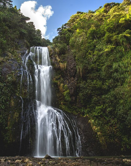 Водопад Китакита, новая Зеландия