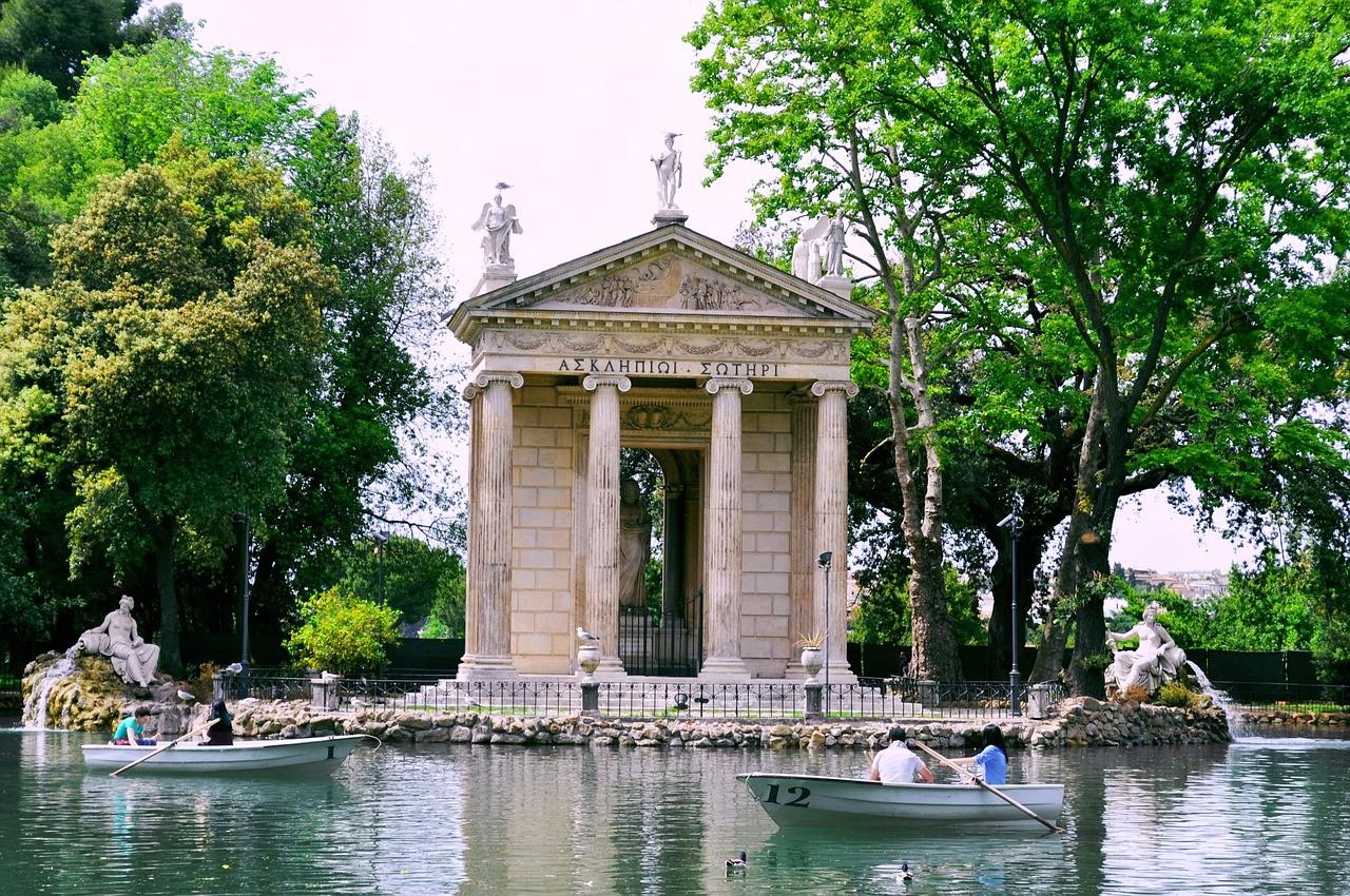 бесплатный парк Вилла Боргезе, Рим, Италия