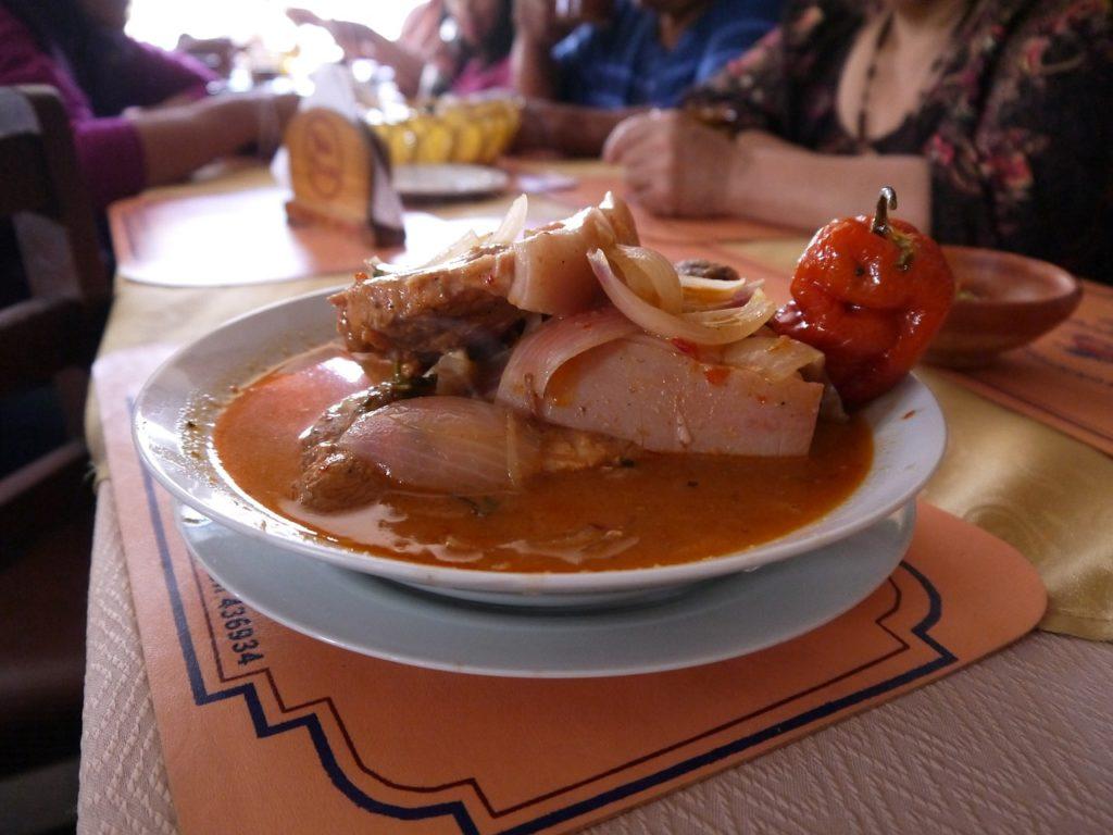 Еда в Аркипа, Перу