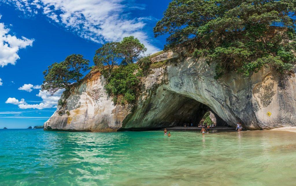 Кафедральная бухта, полуостров Коромандел, новая Зеландия