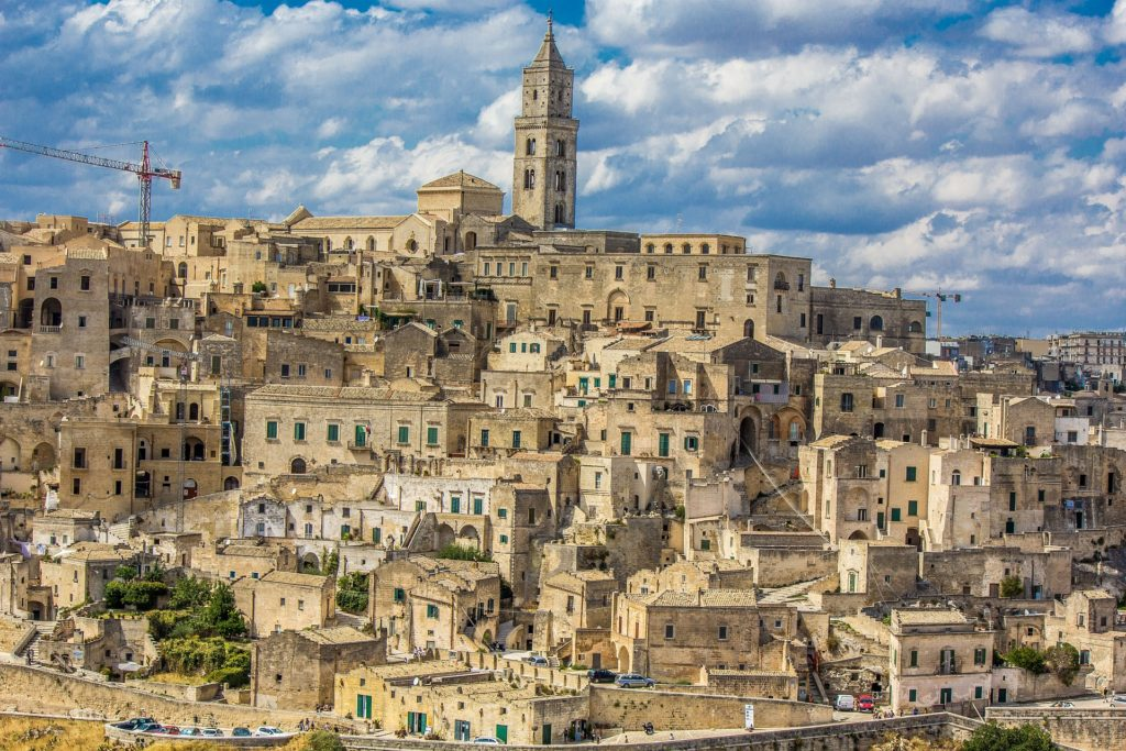 Матера, Италия, город в скале