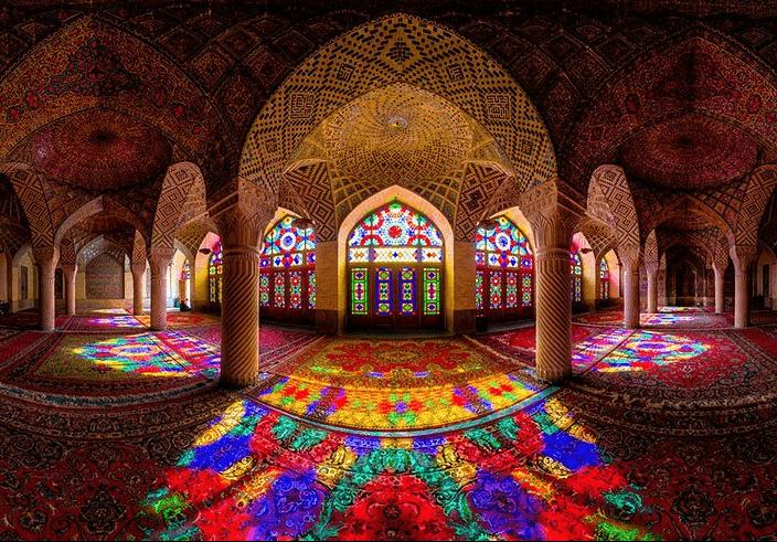Мечеть Насир-ол Молк (Розовая мечеть), Шираз, Иран