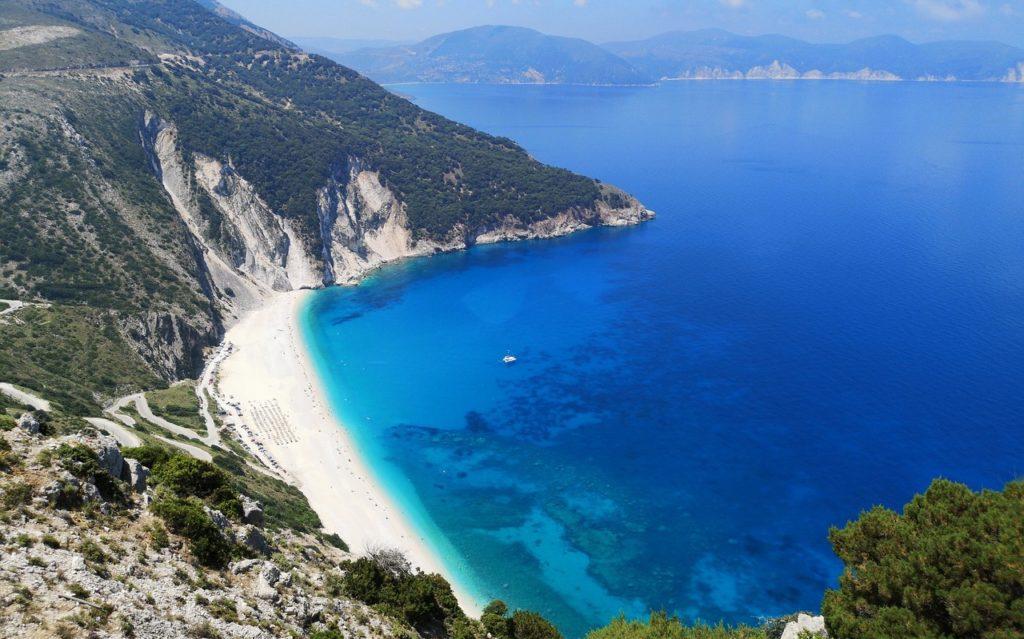 Пляж Миртос, Кефалония, Греция