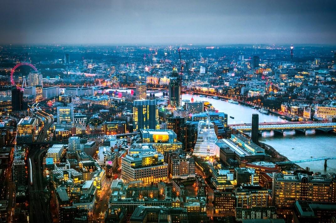 The Shard, вид сверху, Лондон, великобритания