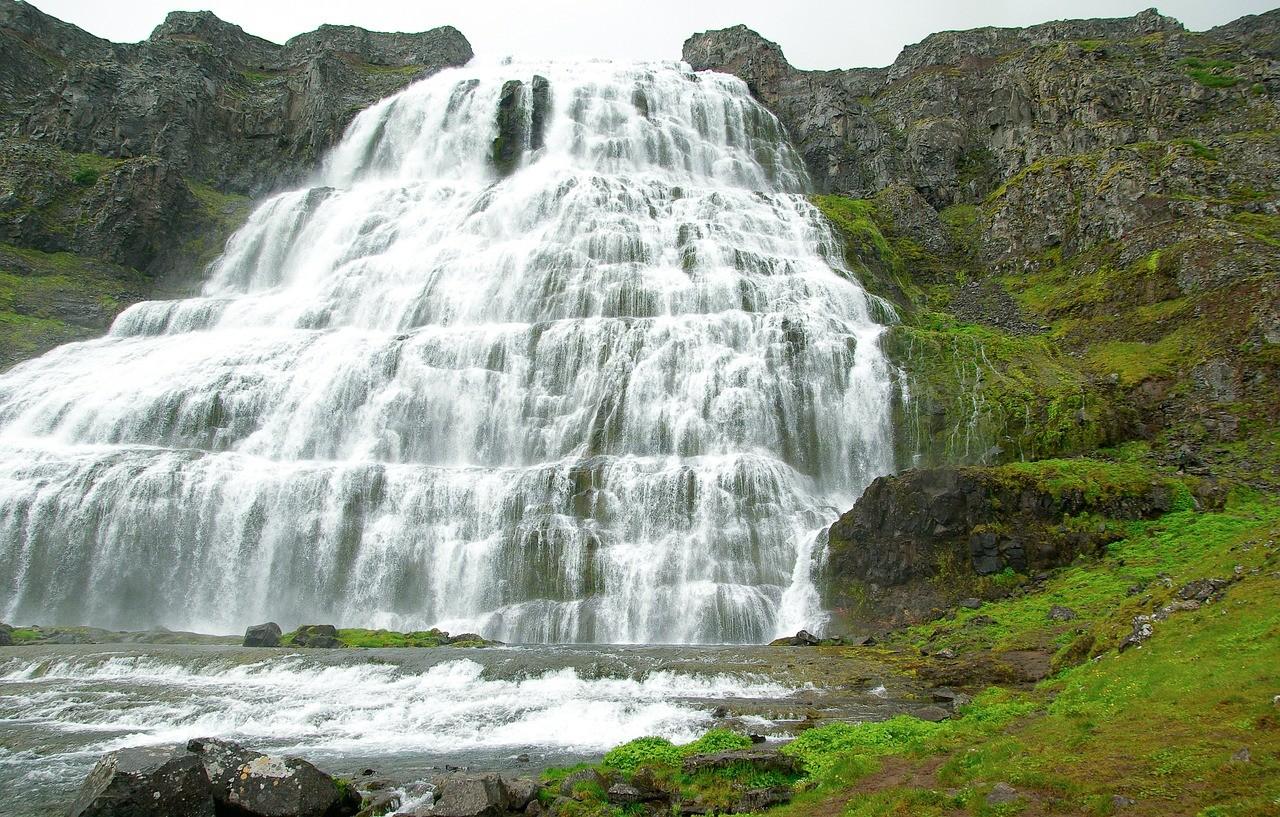 Водопад Диньянди, исландия