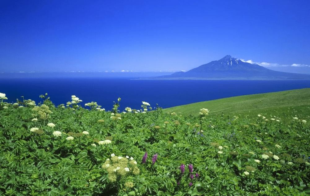 остров ришири япония