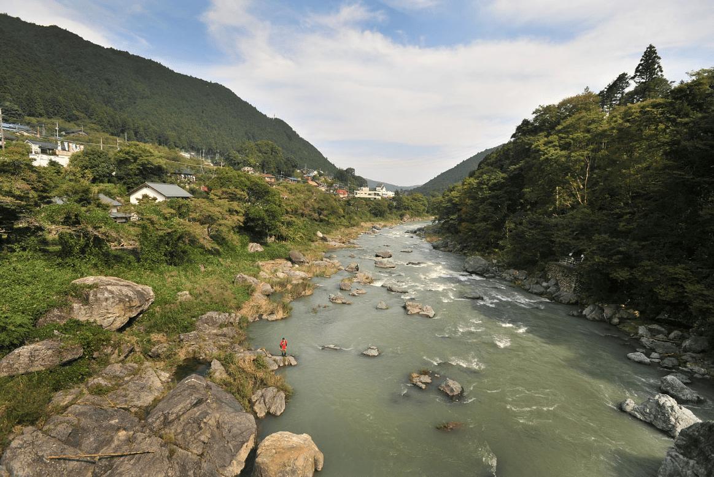 река тамагава Япония