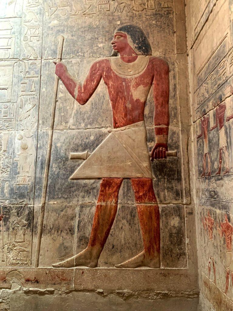 внутри мастабы в саккаре, египет