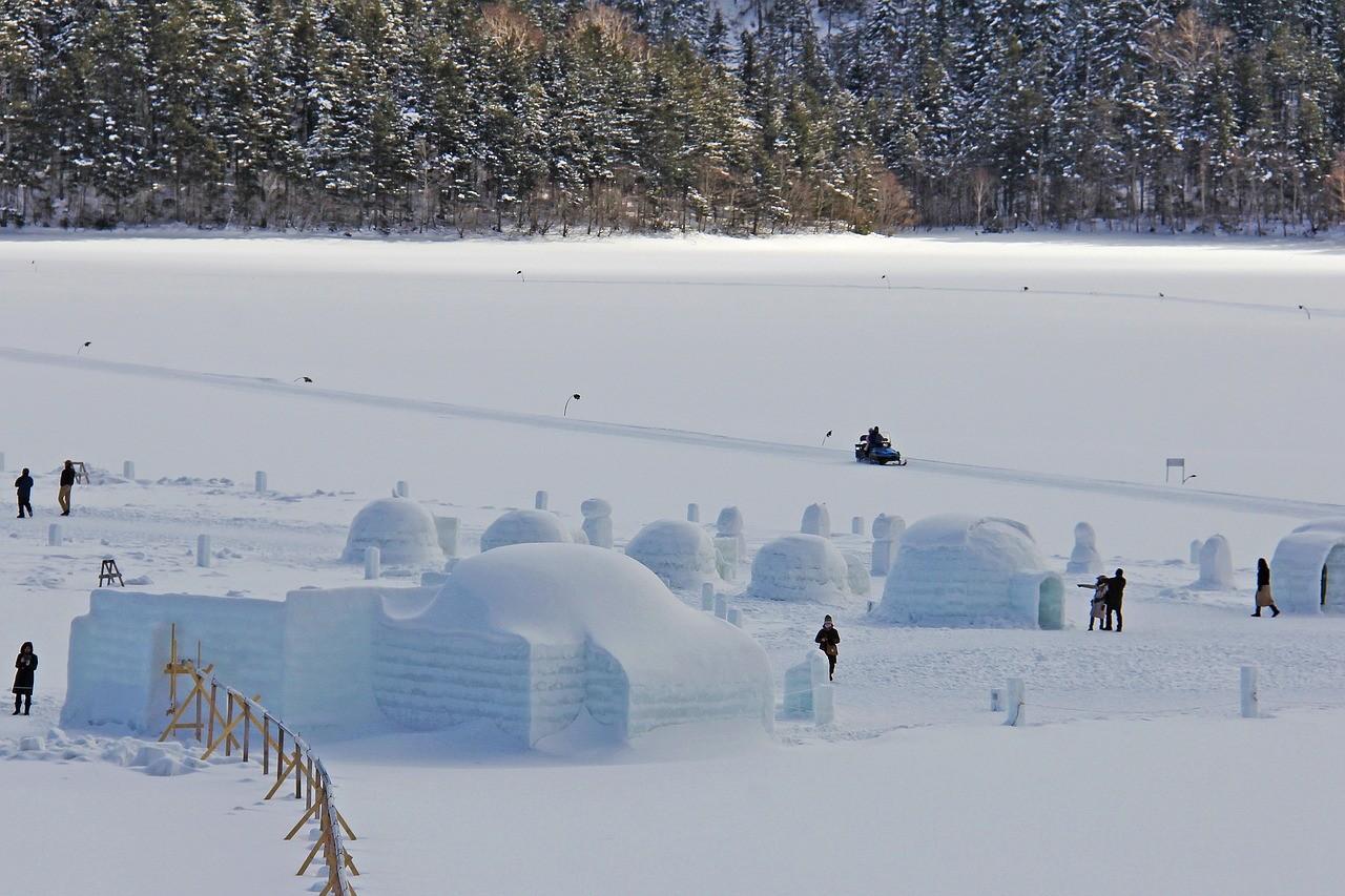 Зима на острова Хоккайдо