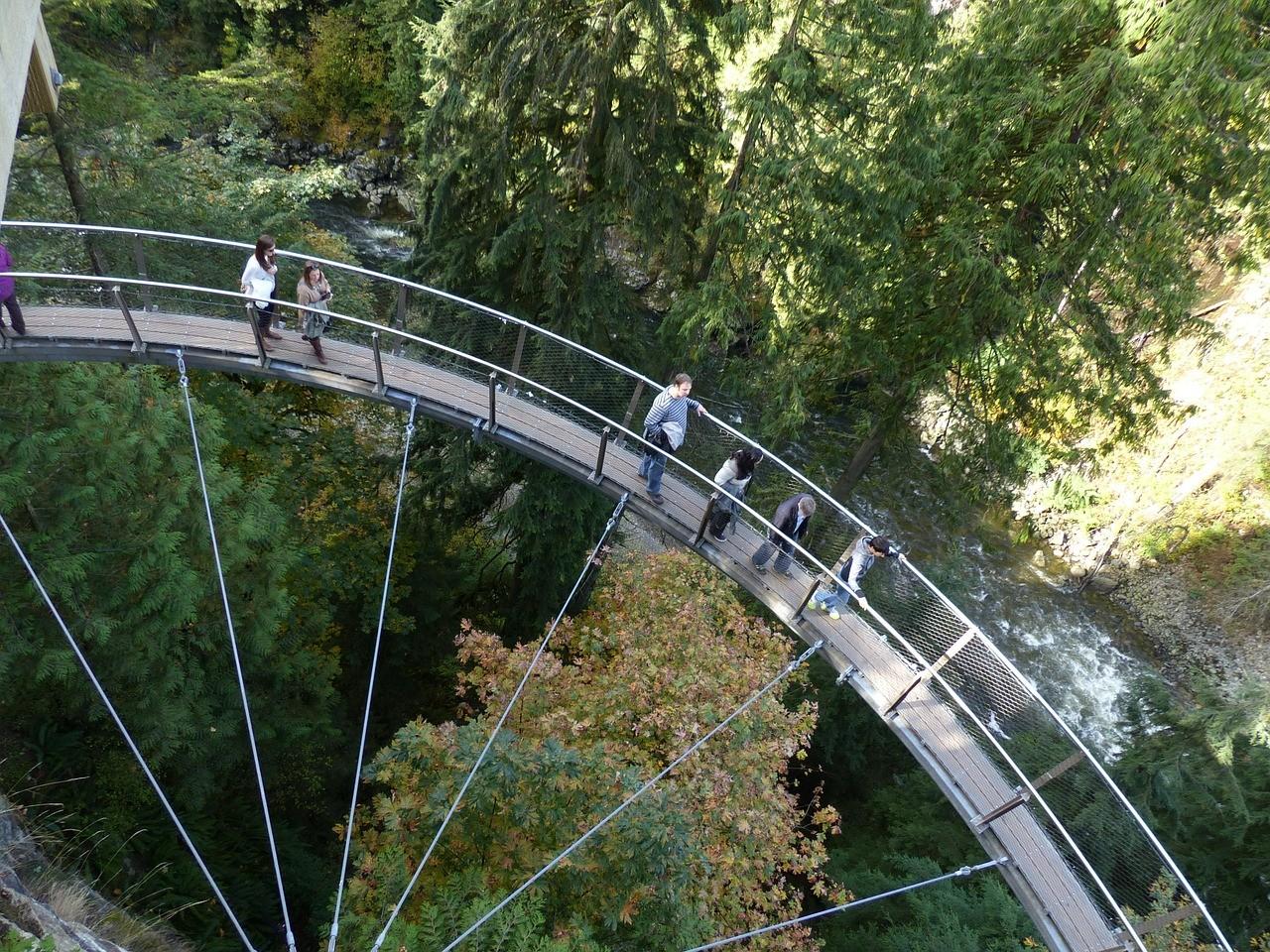 Парк подвесных мостов Капилано, ванкувер, Канада