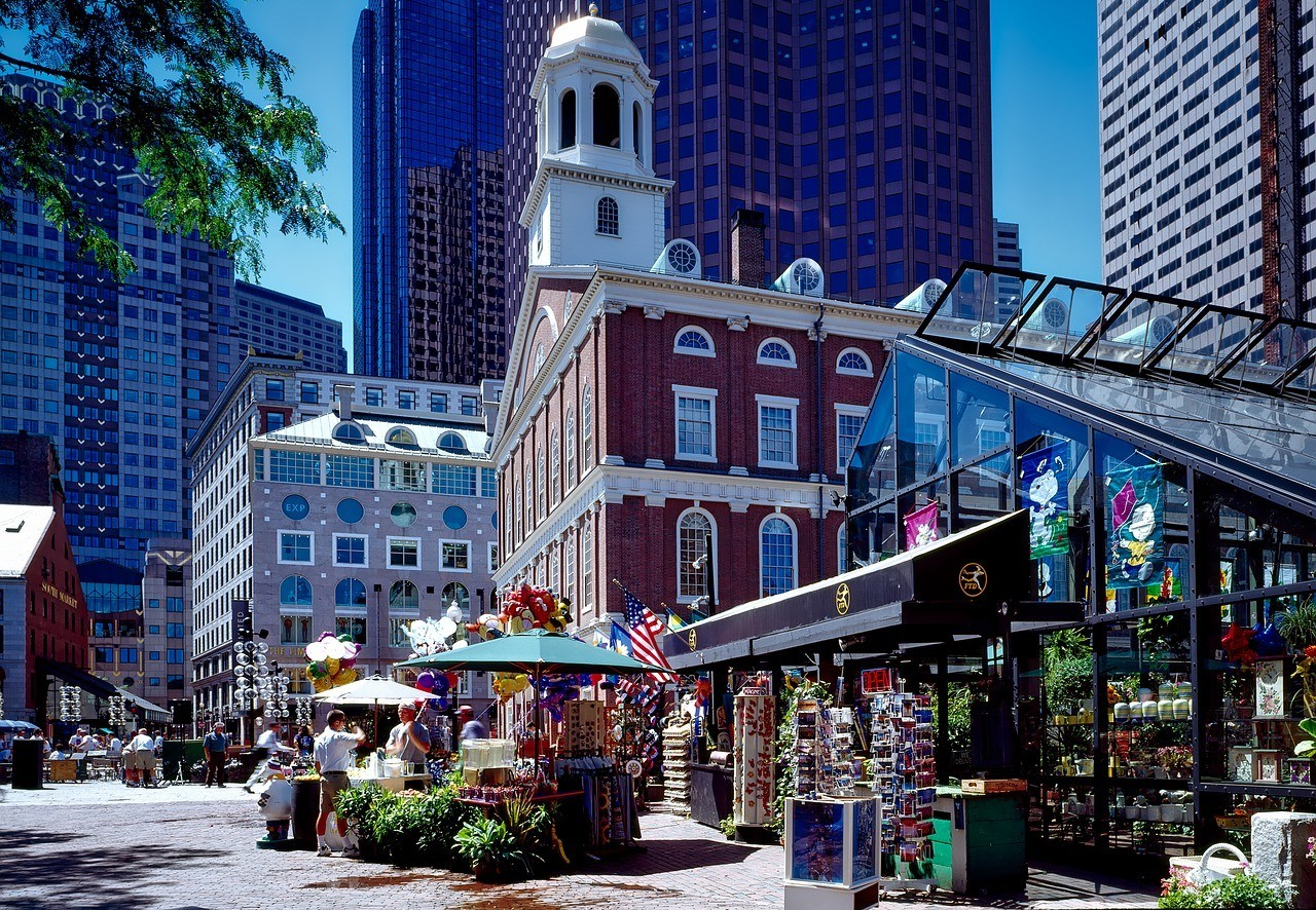 Faneuil Hall Marketplace, Бостон, Массачусетс