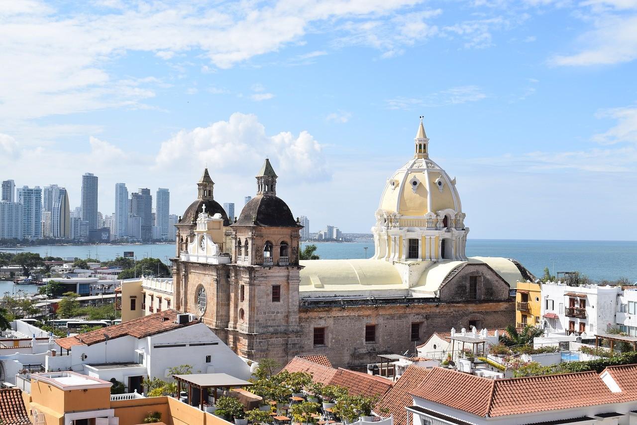 Порт Картахена на побережье Карибского моря, Колумбия